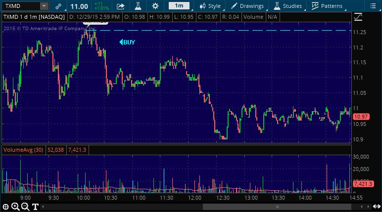 txmd stock picking service alert