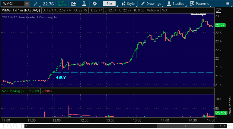 wmgi stock picking service alert